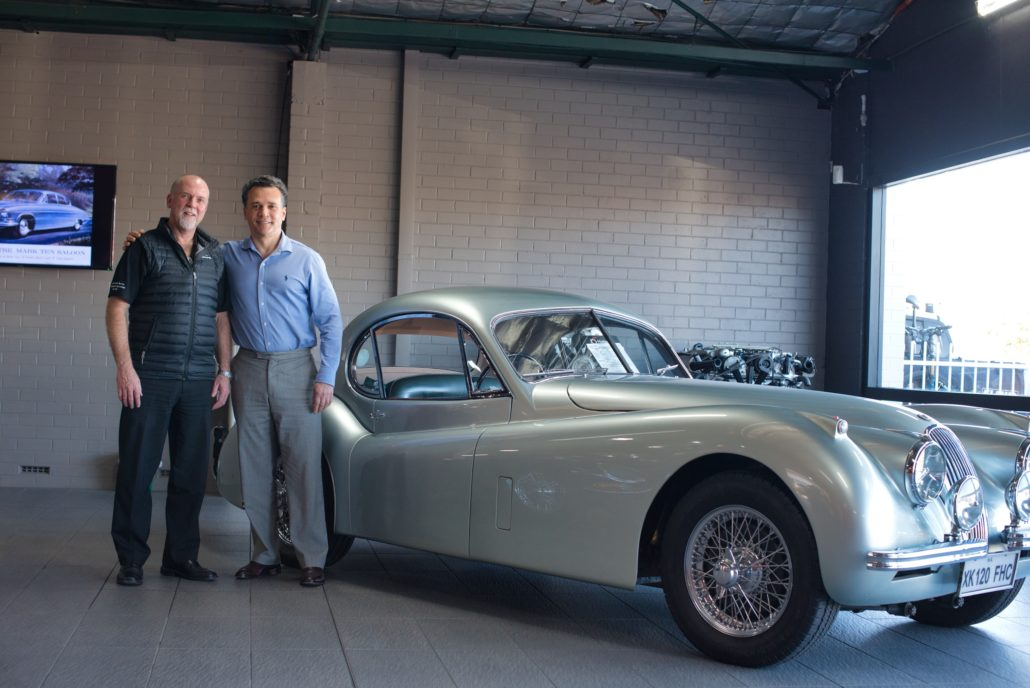 Ron Bernard and Graham Percival of Roadbend Jaguar